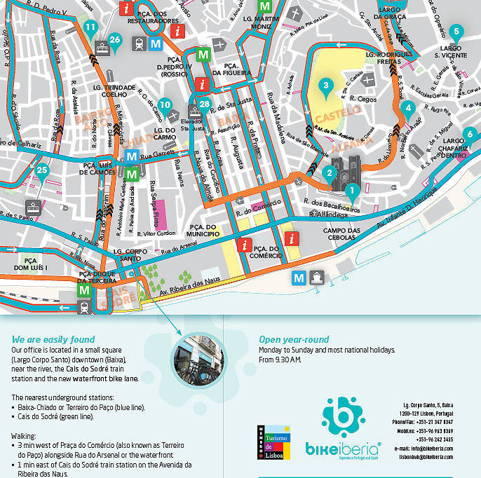 Lisbon Downtown Bike Map