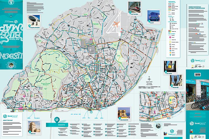 Mapa Bicicletas Lisboa Lisbon Bike Map